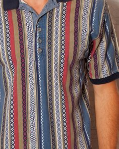 SWEET Patterned - ARIZONA - Men's Polo on Etsy, men's fashion cool pattern.