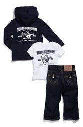 True Religion Brand Jeans Pants, Shirt & Jacket Gift Set (Infant)