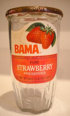 Bama jelly in a drinking glass you could keep!