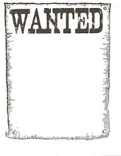 Wanted Poster -  Pinned by @PediaStaff – Please Visit http://ht.ly/63sNt for all our pediatric therapy pins
