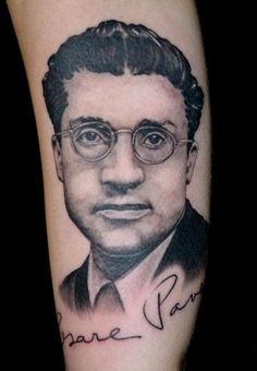Cesare Pavese tattoo