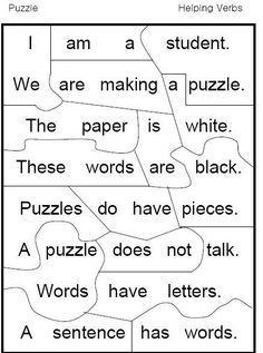 helping verb puzzle. Free.  Love this!