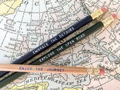 12 Road Trip Series Pencils. Let's Explore. Great by Earmark