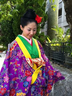 Okinawa's traditional Kimono
