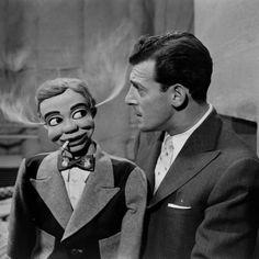 vaudeville era portrait of ventriloquist  with dummy