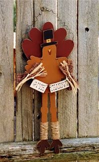 The Best Free Crafts Articles: Give Thanks Turkey E-Pattern By Sue Allemand of Palette Primitives