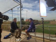 Hershiser interviewing Koufax for SportsNet LA, pic via Alanna Rizzo on twitter