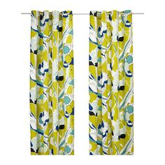 JANETTE Pair of curtains - green - IKEA