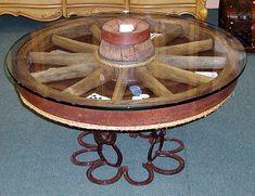 wagon wheel coffee table
