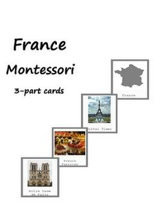 Montessori France 3-part cards via I Believe In Montessori