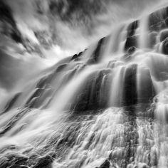 Waterfall Black and White