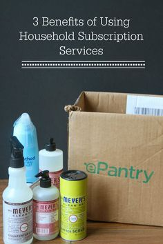 3 Benefits of Using a Household Subscription Service -- plus a GREAT deal on Mrs. Meyer's & other natural products!