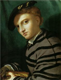 Portrait of a Young Man With a Book - Lorenzo Lotto, 1527