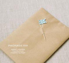 Kraft paper + Toothpick