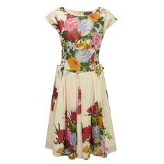 Cezanne Side Lace Dress Cream by Fever London