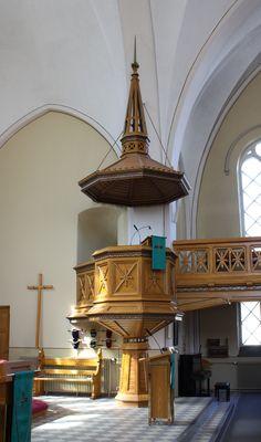 kemi church, church pulpit