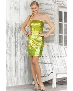 Boutique robe de soirée glamour courte fourreau brillant ornée de paillettes Style C068