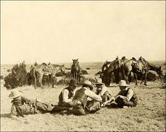 Old West Cowboys | Old West Cowboys Relaxing on the Ranch 1906 Photo Print for Sale