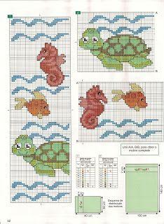Turtle & seahorse