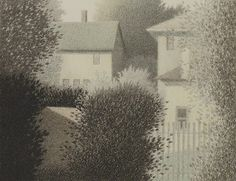 "Robert Kipniss ""Back Windows"" 1987 Color lithograph"