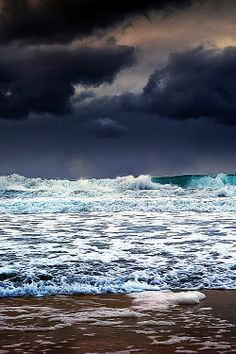 water, beaches, the ocean, wave, at the beach, sea, storm clouds, mother nature, photographi