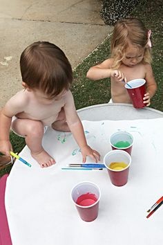 Baby Safe Paint - Flour, Food Color, Water!