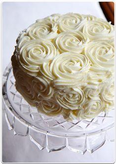 Rose cake icing.