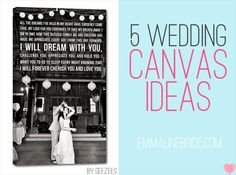 Canvas Art ideas for your wedding
