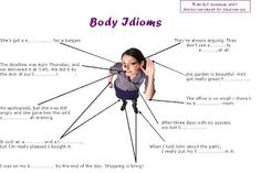 An ELT Notebook: Colloquial English : Body Idioms