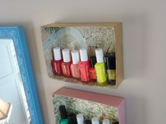 Shoebox Storage Shelves (wrap in your friend's fave pattern or decoupage with fun photos)