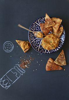 Za'atar-Dusted Pita Chips Recipe