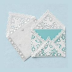 Coordinately Yours, by Julie Blanner | Entertaining & Design Blog that Celebrates Life: Lace Envelopes