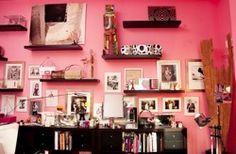 Pink walls...