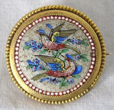 Victorian Micro Mosaic Pendant Brooch