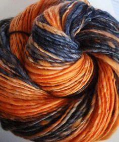 Hand Spun Sport/ DK weight yarn - Jack-O-Lantern