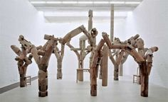 ai weiwei, smithsonian gallery, fragments, recycled wood sculpture, reclaimed wooden temples, repurposed artwork, reclaimed timber