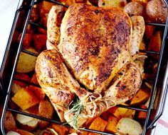 Smoked Paprika Roasted Chicken is very simple but packs a lot of flavor with the roasted paprika. Throw some cubed butternut squash in the pan and you've got a perfect one-pot meal (sub olive oil for the butter)