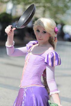 to be Rapunzel at Disney Land!