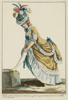 Galerie des Modes, 7e Cahier, 1ere Figure: Polonaise en frac (frock-coat polonaise), 1778