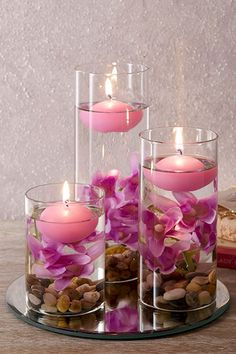 Get creative and make your CLV residence homey with these pink floating candles.