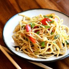 Try a fresh twist on pasta salad with this Cold Asian Noodle Salad. #foodgawker