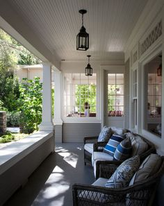 loving the knee wall and wondering about using that design on the back screened porch
