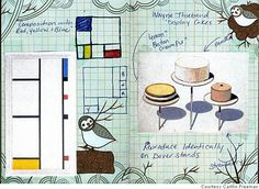 Sketchbook of Caitlin Freeman (the pastry chef for the SFMOMA rooftop garden cafe).