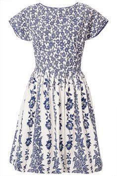 TOPSHOP  Vine Border Sun Dress
