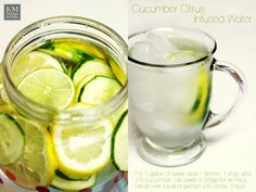 Cucumber Citrus Infused Water