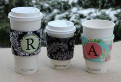 In The Hoop - Coffee Sleeves - Monogram Coffee Sleeves - Embroidery Garden (Powered by CubeCart)