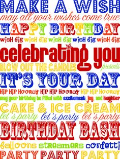 Birthday subway art printable
