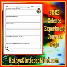 ScienceandMath.com Amazing Science DVD Review PLUS free science experiment journal page