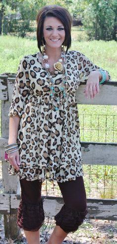 Luxe Leopard BabyDoll Dress