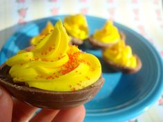 Cadbury Creme Deviled Eggs! Oh man, I can't wait to try this.